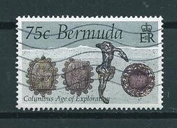 1992 Bermuda 75 Cent Columbus Age Of Exploration Used/gebruikt/oblitere - Bermuda
