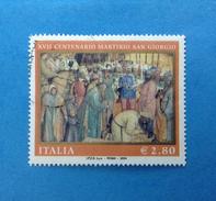 2004 ITALIA FRANCOBOLLO USATO STAMP USED - MARTIRIO SAN GIORGIO - - 6. 1946-.. Repubblica