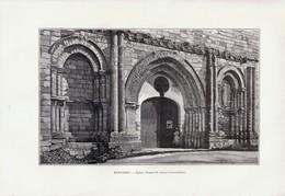 1903 - Phototypie - Esnandes (Charente-Maritime) - L'église - FRANCO DE PORT - Unclassified