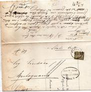 1896  LETTERA  CON ANNULLO PIAZZOLA SUL BRENTA PADOVA - 1878-00 Umberto I