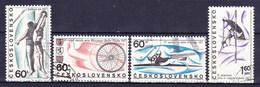 Tchécoslovaquie 1967 Mi 1701-4 (Yv 1556-9), Obliteré - Gebraucht