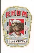 Etiquette   Rhum  José Virta - - Rhum