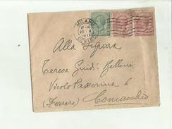 135652 Storia Postale Antica Busta 1919 A Retro Timbro Rosso Comando Brigata Potenza - Italia