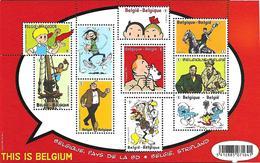 Belg. 2012 - COB N° 4258 à 4267 ** - Belgique, Pays De La BD (bloc 201) - Belgium