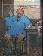 Cpa 1920 Emprunt National 6% Illustrée Par Georges Giffard Paysan & Billets Bas De Laine Souscrivez !!! Dos Scanné Tbe - Illustrateurs & Photographes
