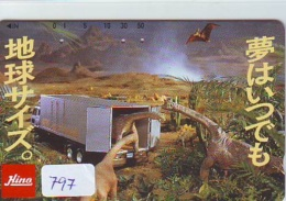 Télécarte Japon * DINOSAURUS * Dinosaurier * Dinosaur * Dino (797) Phonecard Japan * TK - Telefoonkaarten