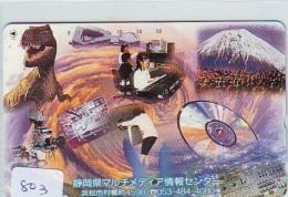 Télécarte Japon * DINOSAURUS * Dinosaurier * Dinosaur * Dino (803) Phonecard Japan * TK - Telefoonkaarten