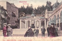 Marienbad In Tschechien.Kreuzbrunn-S.M.König Eduard V. England.-Handkolorierte Künstlerkarte. - Austria