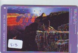Télécarte Japon * DINOSAURUS * Dinosaurier * SCHIM SCHIMMEL * Phonecard Japan (813) Telefonkarte * FILM * Cinema - Film