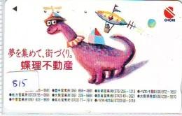 Télécarte Japon * DINOSAURUS * Dinosaurier * Dinosaur * Dino (815) Phonecard Japan * TK * - Telefoonkaarten