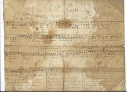 """Partition De Musique Ecrite à La Main-Noêl -""""Peuple Debout Chantes Ta Délivrance"""" - Manuscrits"""