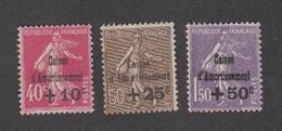 France - Caisse D'amortissement N°266 à 268 ** Neufs Sans Charnières - Côte Yvert : 420 Euros - 1930 - TB - Cassa Di Ammortamento