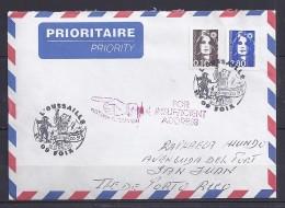 MARIANNE DU BICENTENAIRE N°3006 +2617 SUR L. DE 09 FOIX/12 4 97 POUR PORTO RICO + RETOUR - 1989-96 Marianne Du Bicentenaire