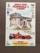 Cartolina Mostra Imola 2000 Formula 1 E Sport Con Annullo 20° Gran Premio Di San Marino 9-4-2000 - Grand Prix / F1