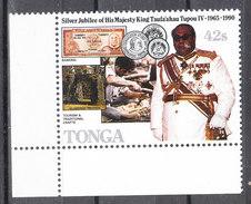 Tonga   -   1990. Re Tupou ,monete E Banconote. Coins And Banknotes. MNH, Rare - Monete