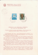 8-Sport-Giuochi Del Mediterraneo 1963-Bollettino Illustrativo Bollo 1° Giorno Emissione-F.D.C.-Catania Filatelico - Francobolli