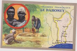 AFRIQUE,AFRICA,Dahomey , Devenu Bénin En 1975,empire Colonial Français,colonie,PUB AU DOS LION NOIR - Benin