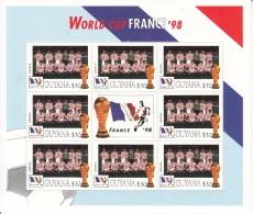 1998  Guyana World Cup Football France  Team CROATIA Miniature Sheet Of 8 MNH. Great Christmas Present! - Coupe Du Monde