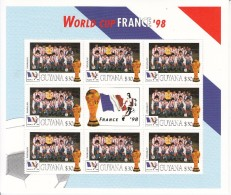 1998 Guyana  World Cup France  Team PARAGUAY Miniature Sheet Of 8 Great Christmas Gift MNH - Coupe Du Monde