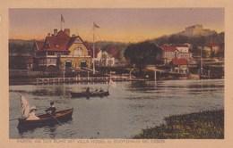 ESSEN: Partie An Der Ruhr Mit Villa Hugel U. Bootshauss (carte Animée Barques) - Essen