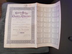 """Action De Dividende""""Union Belge Des Chaux Et Ciments""""Bruxelles 1920 ,avec Tous Les Coupons N°00436. - Industrie"""
