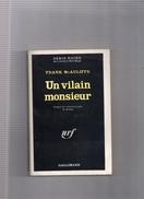 """SERIE  NOIRE  N°  1297   --  FRANK  McAULIFFE  --  """"""""  UN  VILAIN  MONSIEUR  """"""""  --  1969  --   BEG - Série Noire"""