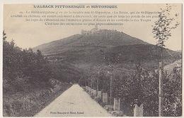 L' ALSACE PITTORESQUE .... LE  HOHKOENIGSBOURG VU DE LA MONTEE PAR St-HIPPOLYTE - Francia