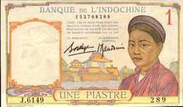 INDOCHINE 1 PIASTRE De 1932-39nd  Pick 54b  UNC/NEUF - Indochina