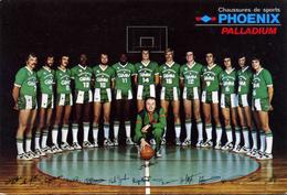 SPORTS /    BASKET BALL        L 53   /  EQUIPE  ASVEL  14 FOIS CHAMPIONS DE FRANCE       CPM / CPSM  10 X 15 - Basketball