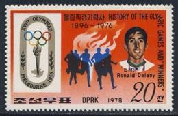 Korea North 1978 Mi 1770 ** Ronald Delany - Gold Medalwinner Runner 1500 M - Melbourne 1956 - Olympic Games