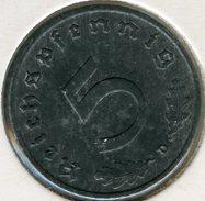 Allemagne Germany 5 Reichspfennig 1941 D J 370 KM 100 - [ 4] 1933-1945 : Troisième Reich