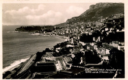 MONACO - MONTE CARLO - PANORAMA ET LES TENNIS VUS DE ST ROMAN LL309 RP - Monte-Carlo