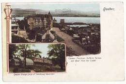 QUEBEC CITY VIEW, CANADA C1902 Antique Souvenir Postcard, Frontenac, Spencer Governors Residence [6923] - Québec - Château Frontenac