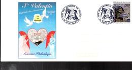 FRANCE  Carte Souvenir St Valentin Bd Coeur - Celebrations