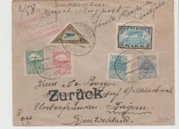 EST019 / SDehr Früher Luftpostbrief Per Einschreiben Nach Bayern 1920 Und Zurück. - Estonie