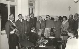 FOTO INAUGURAZ. SCUOLA ELEMENTARE PASTORELLO DI LANGHIRANO PARMA 26/10/60 - Persone Identificate