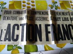 Banderole Action Française Politique Année 1920 ? 90 Cm Sur 29 Cm - Alte Papiere