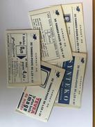 5 Couvertures De Carnet Vide  Decaris   Pub Publicité Publicitaire + 6 Timbres - Usage Courant