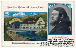 CPA - OBERRAMMENGAU (Bavière) - Haus Des Rochus Und Anton Lang - Passionsspiel Oberammergau - Oberammergau