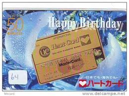PHONECARD JAPAN * CREDITCARD * MASTERCARD  (64) Télécarte Japon * DAI-ICHI KAOYO BANK * BANK CARD - Advertising