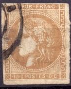 CERES BORDEAUX N° 43Aa REPORT 1  OB. CAD  ST - 1870 Bordeaux Printing