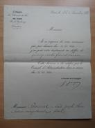 Compagnie Des Chemins De Fer De L'est Rue De Strabourg Paris Décision D'augmentation Salaire Facteur Vesoul - Documents Historiques