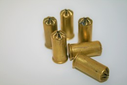 Militaria - BRITISH BULLDOG BULLETS (6pc) CAL .380 LONG BLANC - Original - Armes Neutralisées