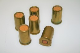 Militaria - BRITISH BULLDOG BULLETS (6pc) CAL .380 SHORT BLANC - Original - Decotatieve Wapens