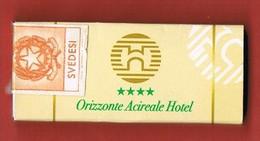 Italia - Scatola Di Fiammiferi Svedesi Pubblicitaria - Orizzonte Acireale Hotel - Integra Con Marchio Imposta Fiammferi - Scatole Di Fiammiferi
