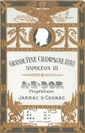 THEME ALCOOL / Grande Fine Champagne 1848 Napoléon III - Autres