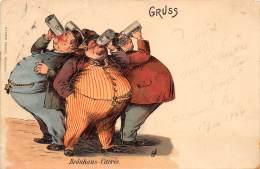 THEME BRASSERIE / Très Belle Carte Illustrée - Gruss - Bräuhaus Carrée - Altri