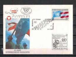 Österreich, FDC 30 Jahre österreichische Soldaten UNO MiNr. 2004, 1990 ESt - 1945-.... 2nd Republic