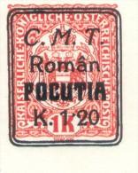 FALSCH FALSO BUKOWINA BUCOVINIA C.M.T. ROMAN POCUTIA NON DENTELE MNH MINT NOT HINGED RARE - Otros