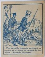 CHROMO IMAGERIE ÉPINAL PELLERIN QUESTION DEVINETTE SOLDATS JAPONAIS - Chromos